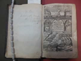 The Practice of Piety  / Lewis Bayly, 1672. New College Library  DPL 912