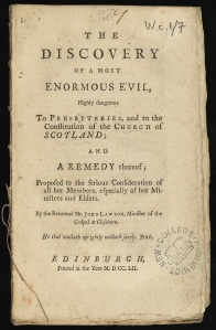 The discovery of a most enormous evil